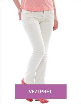 Haine Kenvelo la reducere Pantaloni dama albi