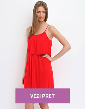 Rochie cu bretele rosie