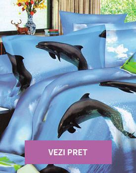 Lenjerie 3D model cu delfini
