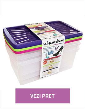 Set 3 cutii cu capac Whambox 9l