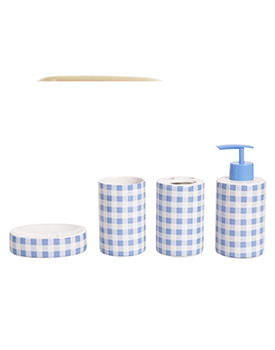 Set 4 piese Blue Checkered