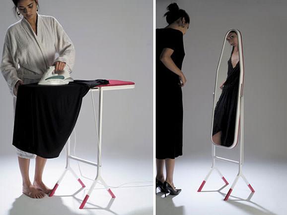 inventii utile Masa de calcat/oglinda