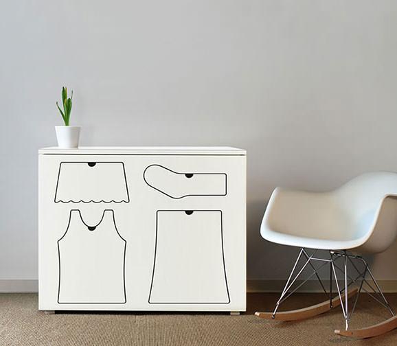 Dulap cu forme speciale pentru fiecare tip de imbracaminte