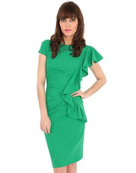 Rochie eleganta din jerse verde