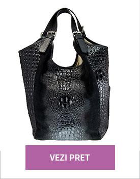Geanta shopper negru