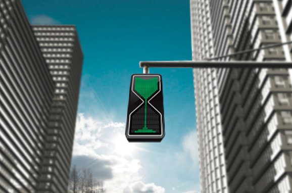 Semafor cu LED-uri tip clepsidra