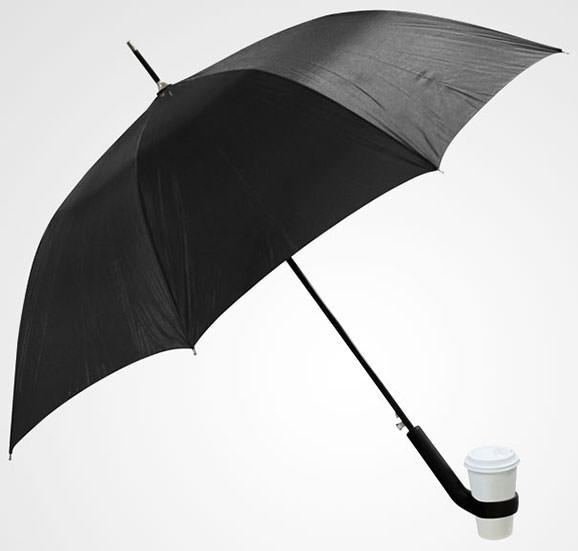 Umbrela cu suport pentru cafea