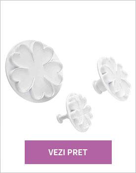 Set 3 forme prajituri White Flower