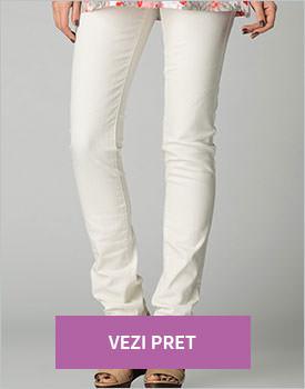 Pantaloni alb fildes Ada Gatti