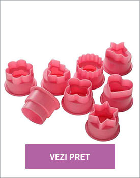 Set 8 forme prajituri Pink Joy