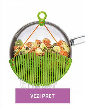 instrumente necesare pentru paste in stil italian Capac strecuratoare Flexy verde