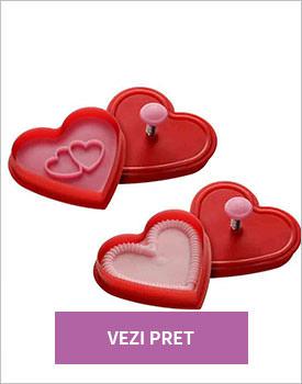 Set 2 forme prajituri Heart Stamp