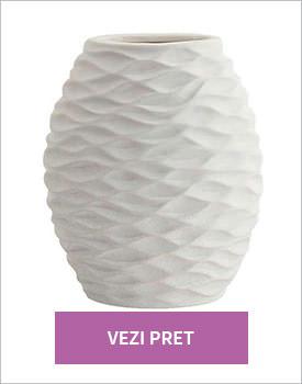 Vas ceramic alb