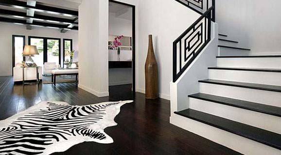Design interior alb negru