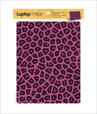 Sticker laptop pink fur