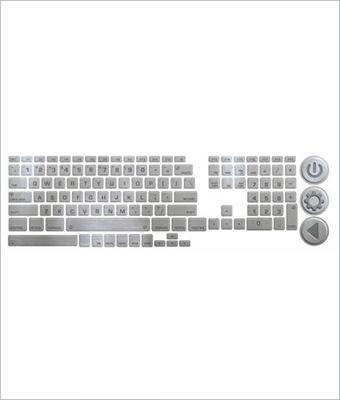 Sticker tastatura metalica