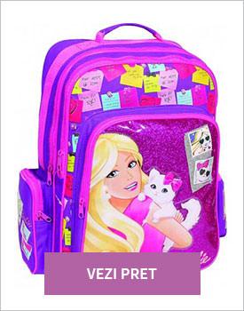 ghiozdan potrivit pentru scolari Barbie Cat
