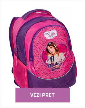 Ghiozdan doua compartimente Disney Violetta