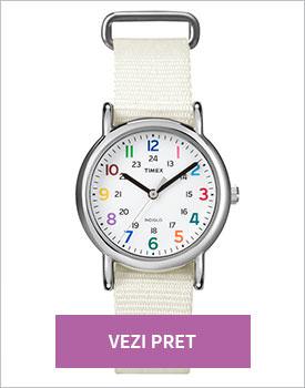 Ceas Timex Weekender alb