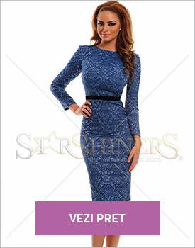 Rochie Starshiners Baroque albastru