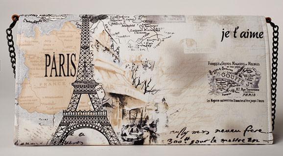 Poseta plic Retro Paris