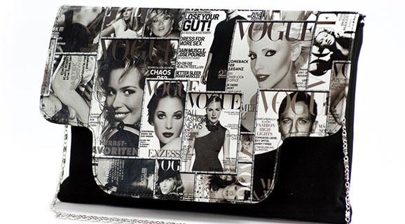 Poseta Revista En Vogue alb-negru