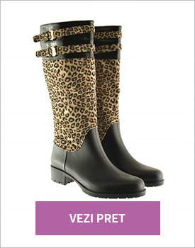 Cizme Notor leopard print
