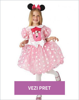 Costum Minnie Mouse roz