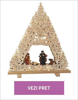 Decoratiune Nativity with glitter