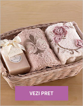 Set 2 prosoape sapun evy rose flower cappucino