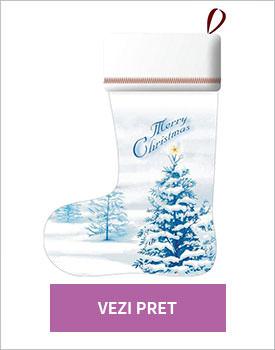 Soseta decorativa Merry Christmas blue