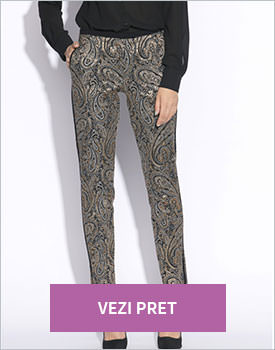 Pantaloni negru cu auriu