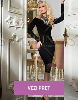 Rochie de Revelion Mexton Impressive Mode negru