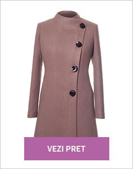 Palton elegant de culoare cafenie