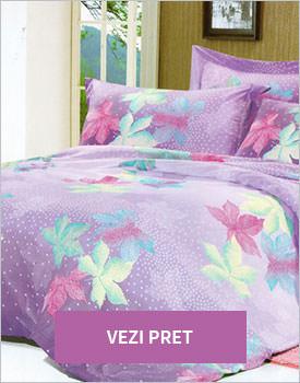 Lenjerie de pat din bumbac satinat lila