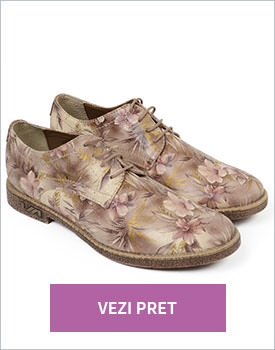Pantofi Oxford piele naturala Gia
