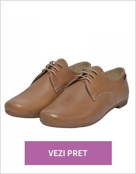 Pantofi dama piele naturala mata bej