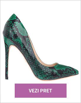 Pantofi Tabitha verde