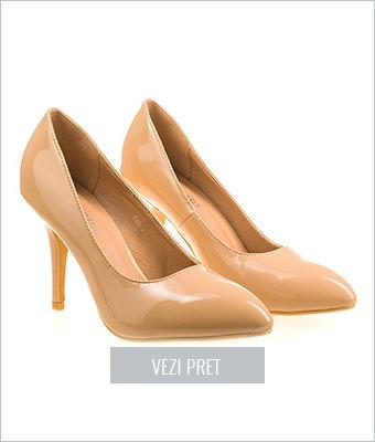 Pantofi stiletto Amelia bej