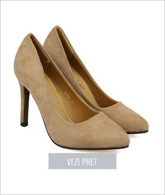 Pantofi dama Fulvia bej nude
