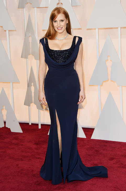9jessica-chastain-navy-dress-oscars-2015-h724
