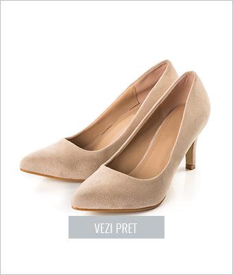 Pantofi dama Fanni bej stiletto