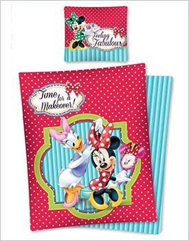 Lenjerie pat Minnie si Daisy rosu