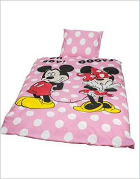 Lenjerie pat copii Mickey si Minnie