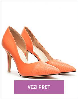 Pantofi Olga corai