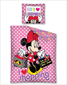 Lenjerie Minnie Mouse I love shopping