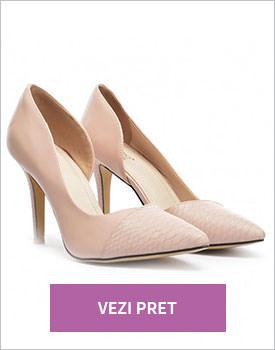 Pantofi Olga roz