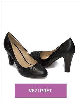 Pantofi cu toc negri Denisa