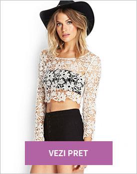 Forever21 Floral Crochet crop top