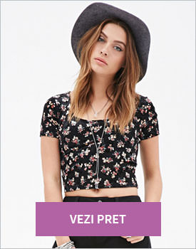 Forever21 Velveteen Rose crop top